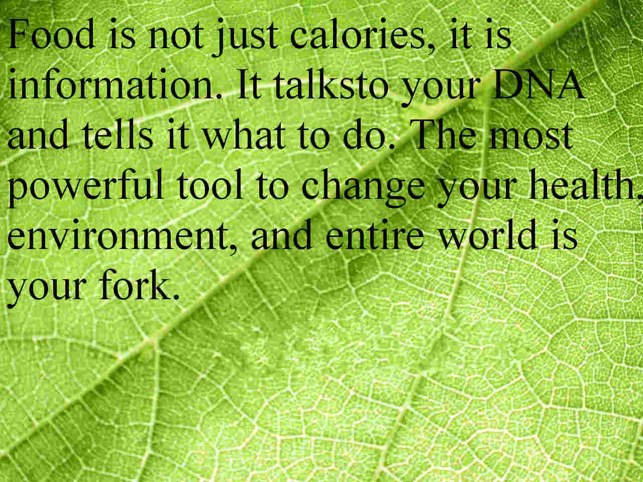 food is information